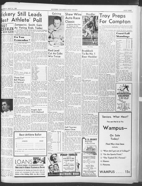 Daily Trojan, Vol. 30, No. 147, May 31, 1939