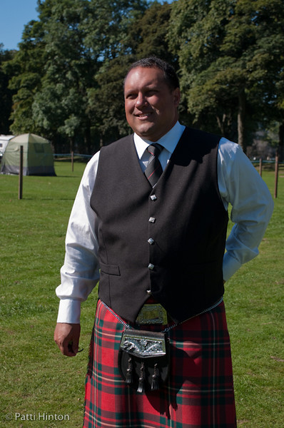 James #77 I made James' acquaintance at the Perth Highland Games today. As luck would have it, he is a fellow Canadian there to compete with the Rob Roy Pipe Band from Kingston ON.