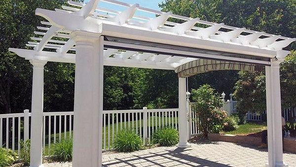 873 - NJ - Pergola with Canopy & Drop Down Shade