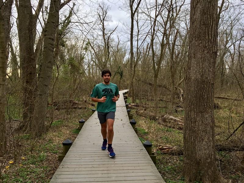 Running on trails of Theodore Roosevelt Island