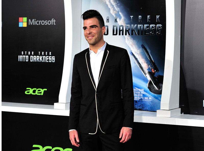 . Actor Zachary Quinto arrives at the premiere of Paramount Pictures\' \'Star Trek Into Darkness\' at the Dolby Theatre on May 14, 2013 in Hollywood, California.  (Photo by Frazer Harrison/Getty Images)