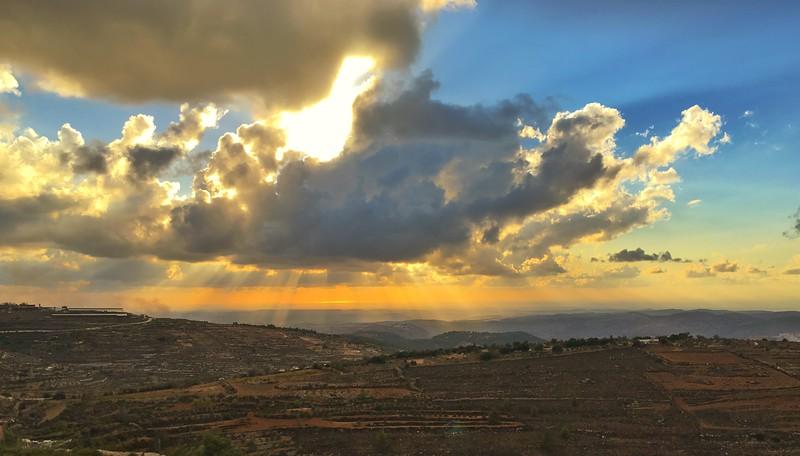Sunset from Neve Daniel - LBD