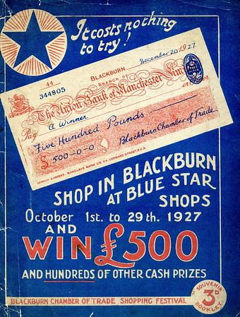 Blackburn Chamber Of Comerce Shopping Festival, October 1927