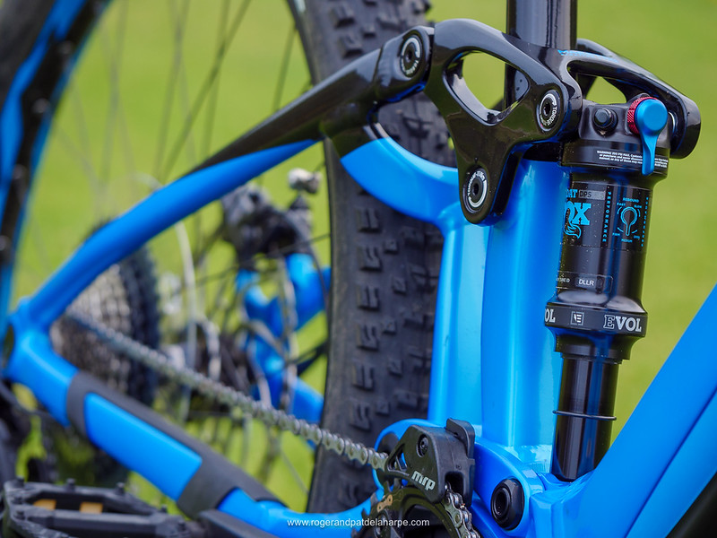 The Fox Float DPS Performance rear shock provides a bunch of controls so you can optimise things for your riding style.