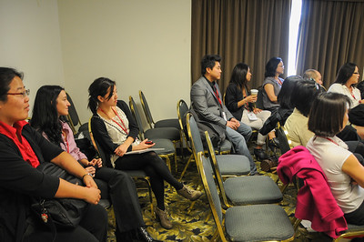 "Particpants listened intently during the ""Emerging Outwards: LGBTQQ Adoptee Narratives"" discussion."