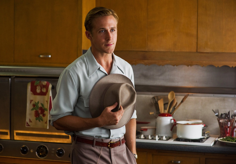 """. This film image released by Warner Bros. Pictures shows Ryan Gosling, as Sgt. Jerry Wooters in \""""Gangster Squad.\"""" (AP Photo/Warner Bros. Pictures, Wilson Webb)"""