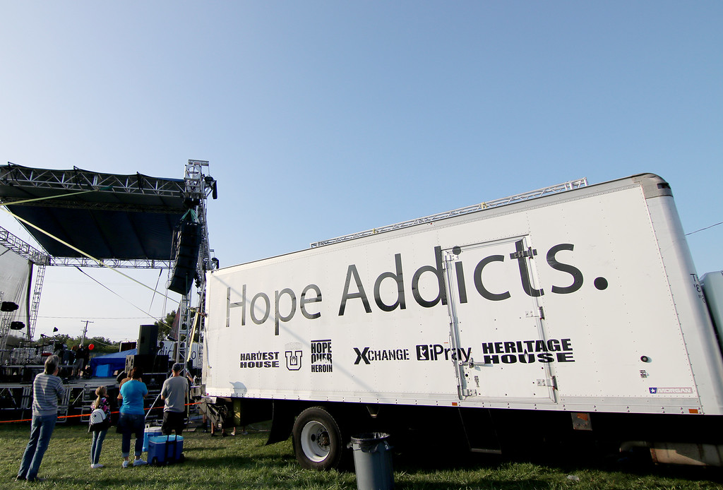 . Jonathan Tressler - The News-Herald. A scene Aug. 25 during opening day of the two-day Hope Over Heroin Lake County event at Lake County Fairgrounds in Painesville Township.