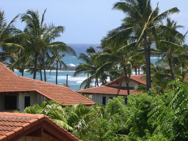 The view from the Nihi Kai Villas in Poi'pu