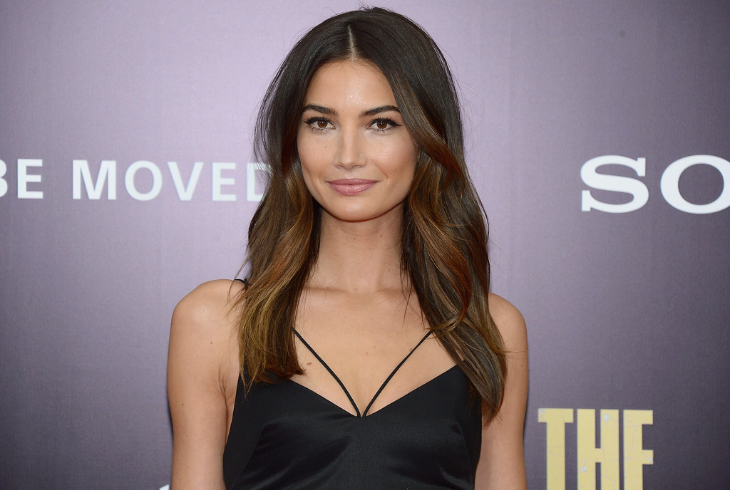 ". Model Lily Aldridge attends the ""Monument Men\"" premiere at Ziegfeld Theater on February 4, 2014 in New York City, New York.  (Photo by Michael Loccisano/Getty Images)"