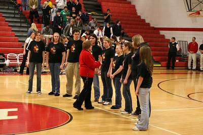 Girls Varsity Basketball - 2009-2010 - 2/5/2010 Newaygo (Parent's Night)