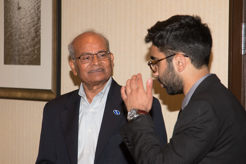 "Dr. Om Bahethi (SSAI) (left) with Jalal-ud-din Butt  -- An award luncheon, ""Dr. John Mather Nobel Scholars Program Award"", as part of the National Council of Space Grant Directors and the Maryland Space Grant Consortium, Greenbelt, MD July 28, 2017"