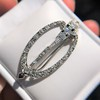 Art Deco Diamond and Onyx Brooch 13