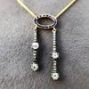 1.80ctw Antique Diamond and Sapphire Negligee Pendant 3