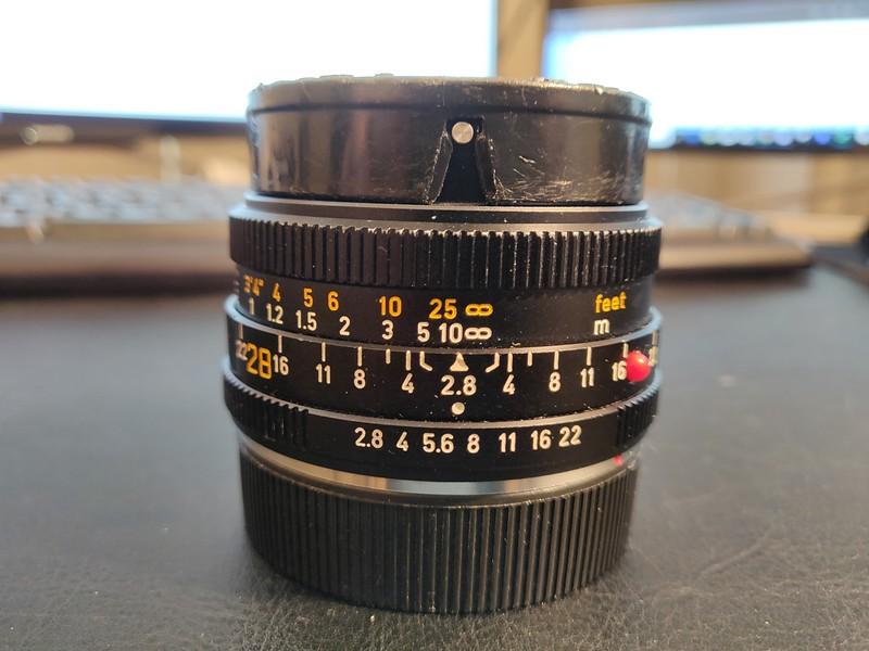 Leica 28mm 2.8 Elmarit-R I - Serial 3271316 001.jpg