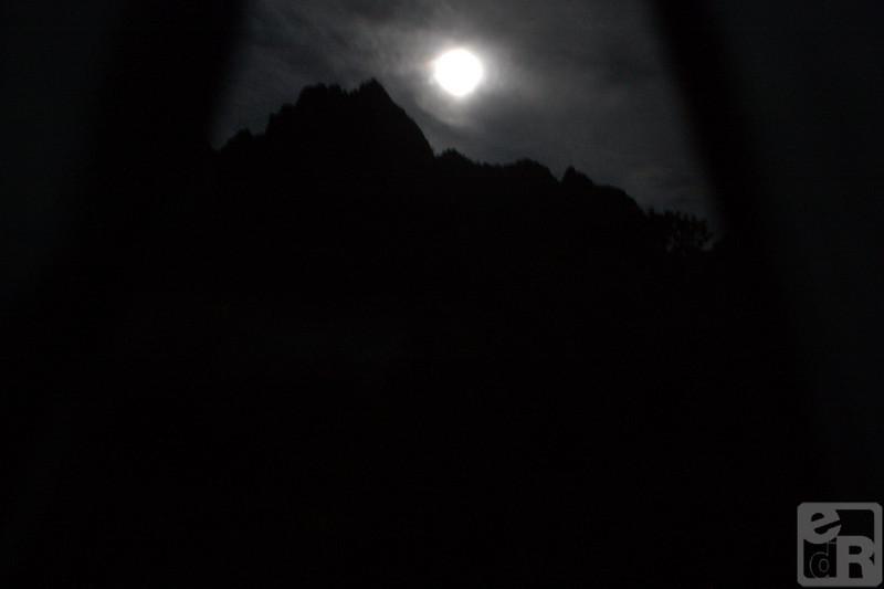 Night tent view