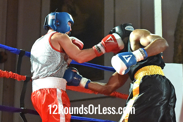 Bout 4 Kevin Riley Cole(Red Gloves), Terminator BC, Uniontown -vs- Antonio Leek(Blue Gloves), WSBC, Cleveland, 152 lbs, Novice
