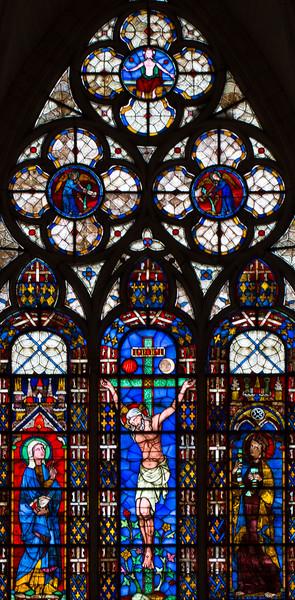 Troyes Saint-Urbain Basilica Crucifixion Window