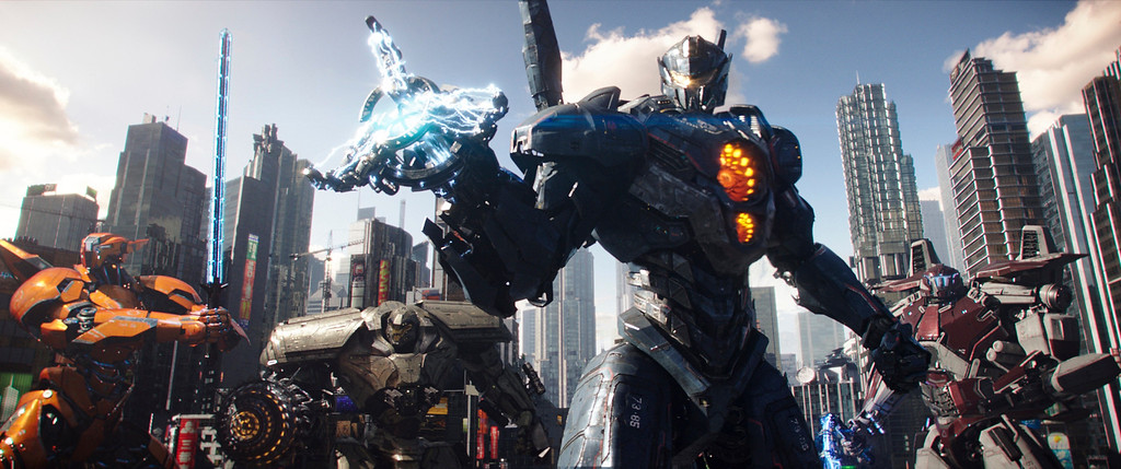 ". This image released by Universal Pictures shows a scene from ""Pacific Rim Uprising.\"" (Legendary Pictures/Universal Pictures via AP)"