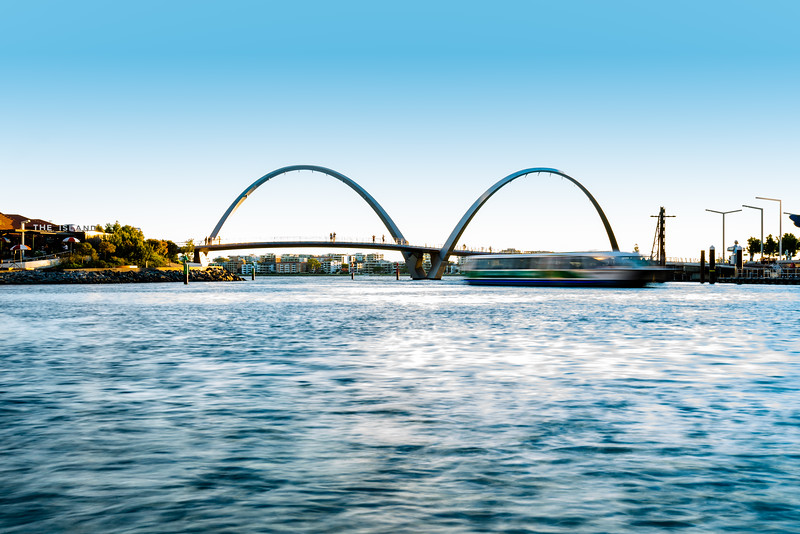 Elizabeth Quay on the Swan River waterfront in Perth, Western Australia.