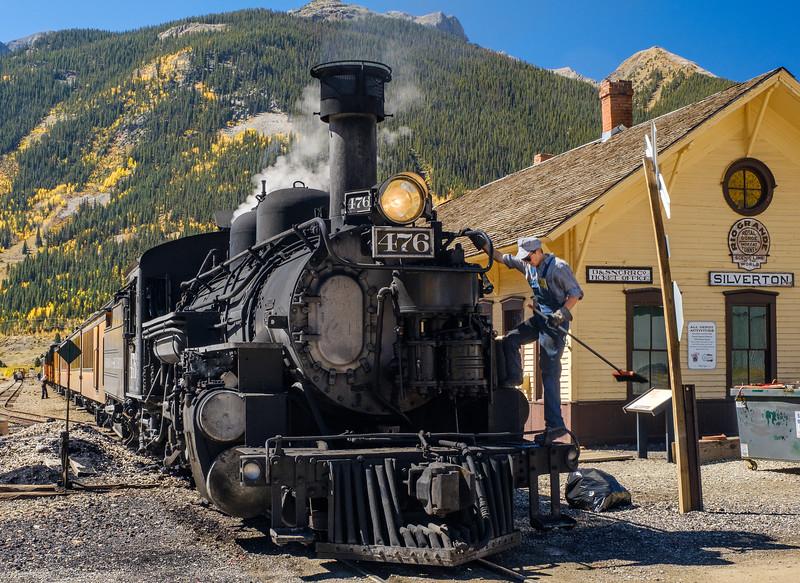 Durango & Silverton Narrow Gauge Railroad at Silverton, Colorado