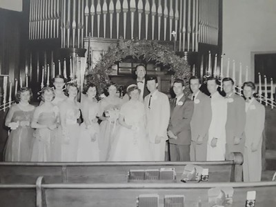 1954 09-17 Uncle Dick and Aunt Mary's wedding