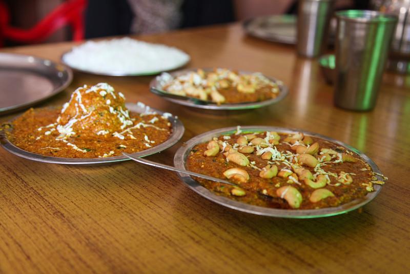 Kaju kari, or cashew curry at lunch.