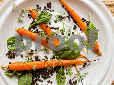 gardeners-cook-with-accidental-flowers-carrots-with-lentils-labneh-and-flowering-cilantro-recipe