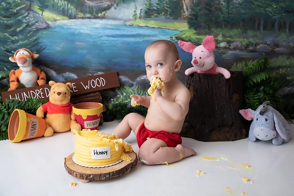 J's Pooh Bear Cake Smash Session