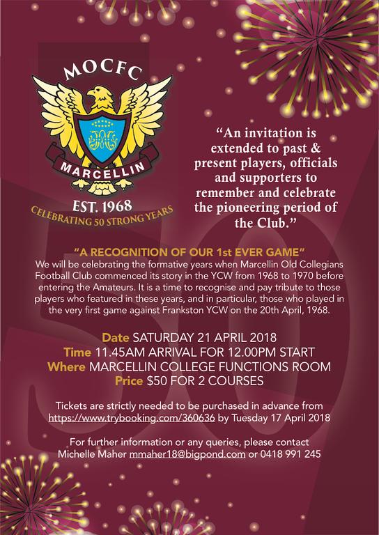 Image of MOCFC Golden Jubilee Flyer