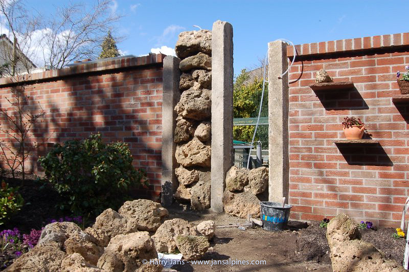 building the new tufa wall