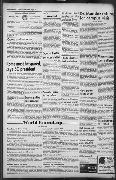 The Trojan, Vol. 35, No. 101, April 03, 1944