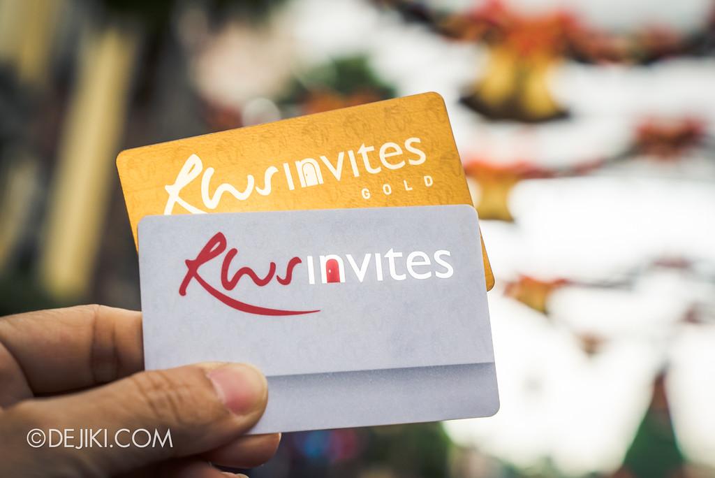 Resorts World Sentosa - RWS Invites membership and GOLD membership
