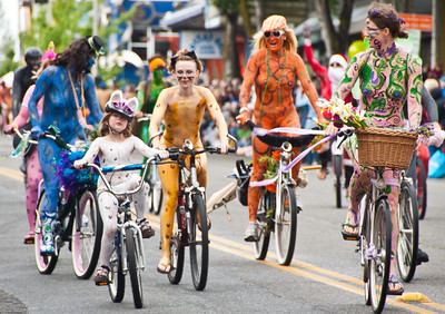 Fremont Parade Nude Bike Riders 2010