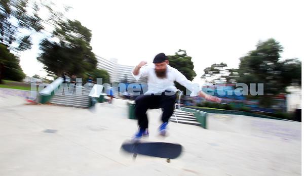 Rabbi Dovid Tsap, the skating Rabbi