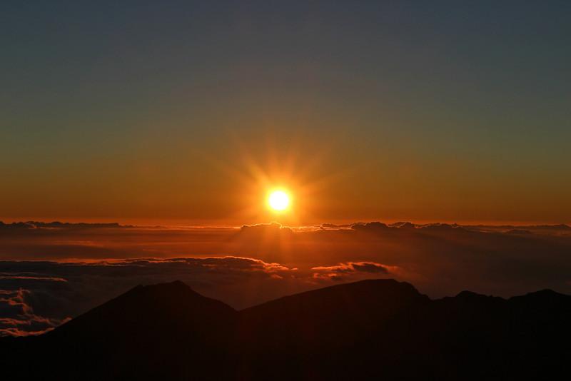 Sunrise at the Haleakala Summit