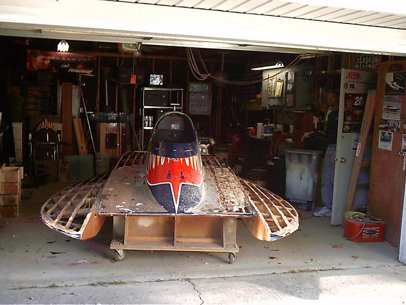 Removing deck around cockpit.