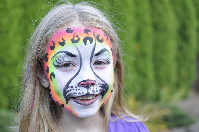 2011.10 - Full face painting of a cheetah when we visited a haunted house.