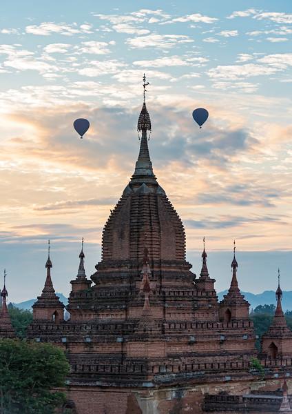 Hot-air Balloons over Bagan