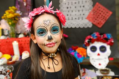 Dia De Los Muertos Celebration at Brown Middle