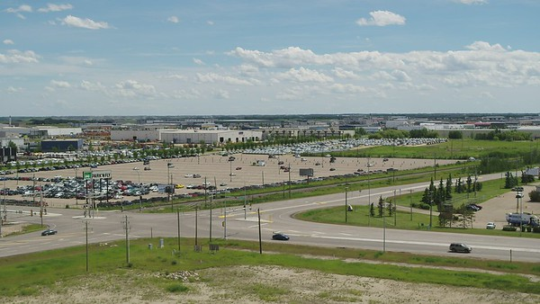 Leduc Business Park, Hotels, Highway 2, and EIA Drone Footage