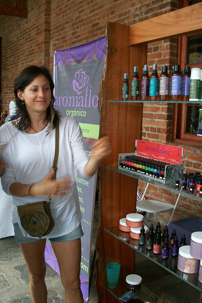 YOGA FESTIVAL - Sept. 11, 2011 - CENAC  My new neighbor - Maria Fernanda with AromaFlor http://Facebook.com/pages/Aromaflor-Costa-Rica/111117988942867