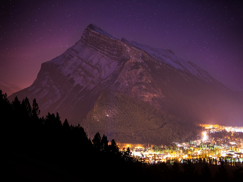 """Last Hour of March"" I, Banff Townsite, Banff National Park, Alberta, Canada."