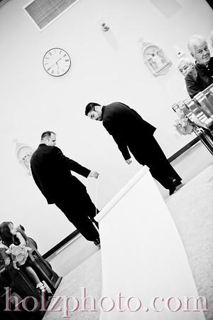 Jackie and Sean B/W Wedding Photos