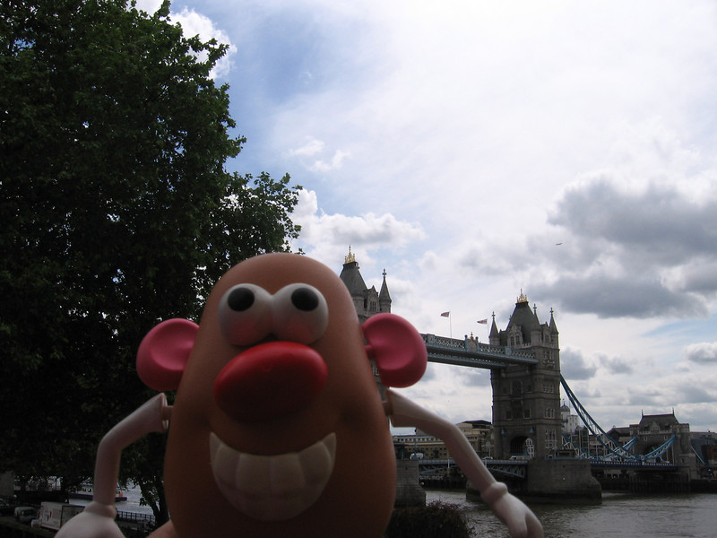 Mr. Potato Head with Tower Bridge in the background