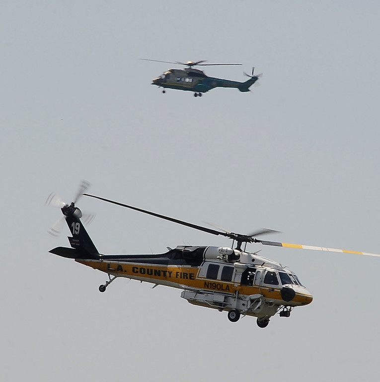. All kinds of helicopters perform during the 20th anniversary of American Heroes Air Show Courage at the Speed of Flight at Hansen Dam. Lake View Terrace CA.  June 29,2013. Photo by Gene Blevins/LA Daily News