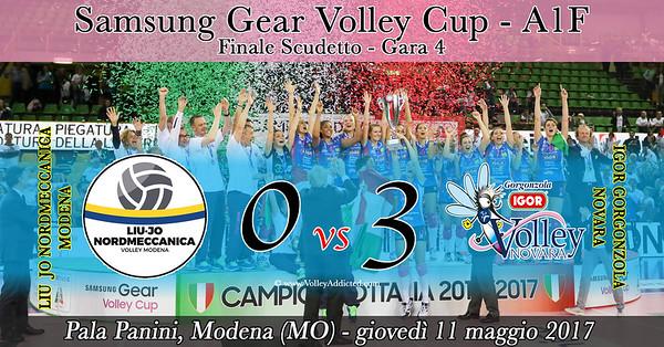 Finale - Gara 4: LiuJo Nordmeccanica Modena - Igor Gorgonzola Novara