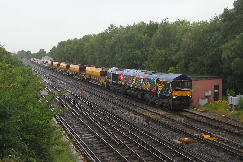 66718 Worting Junction 30/06/20 6Y48 Eastleigh to Hoo Junction