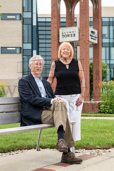 57704 Alumni Association charter members Karen Wolf and Jerry Sutton 7-14-21