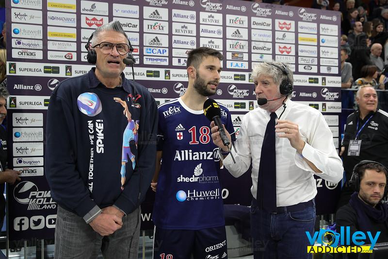 ALLIANZ MILANO 0 - SIR SAFETY CONAD PERUGIA 3 SuperLega Credem Banca 2019/20 - 4^ Giornata di Ritorno Milano - 26 gennaio 2020