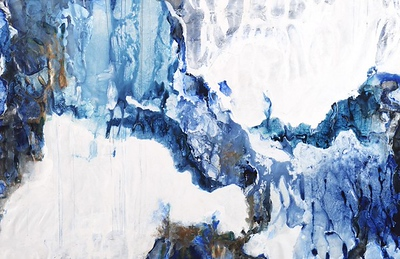 "Above Freezing by Taylor, 60""x96"" acrylic painting on canvas"